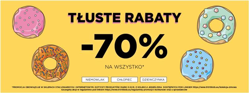 5.10.15.: 70% rabatu na odzież dziecięcą                         title=