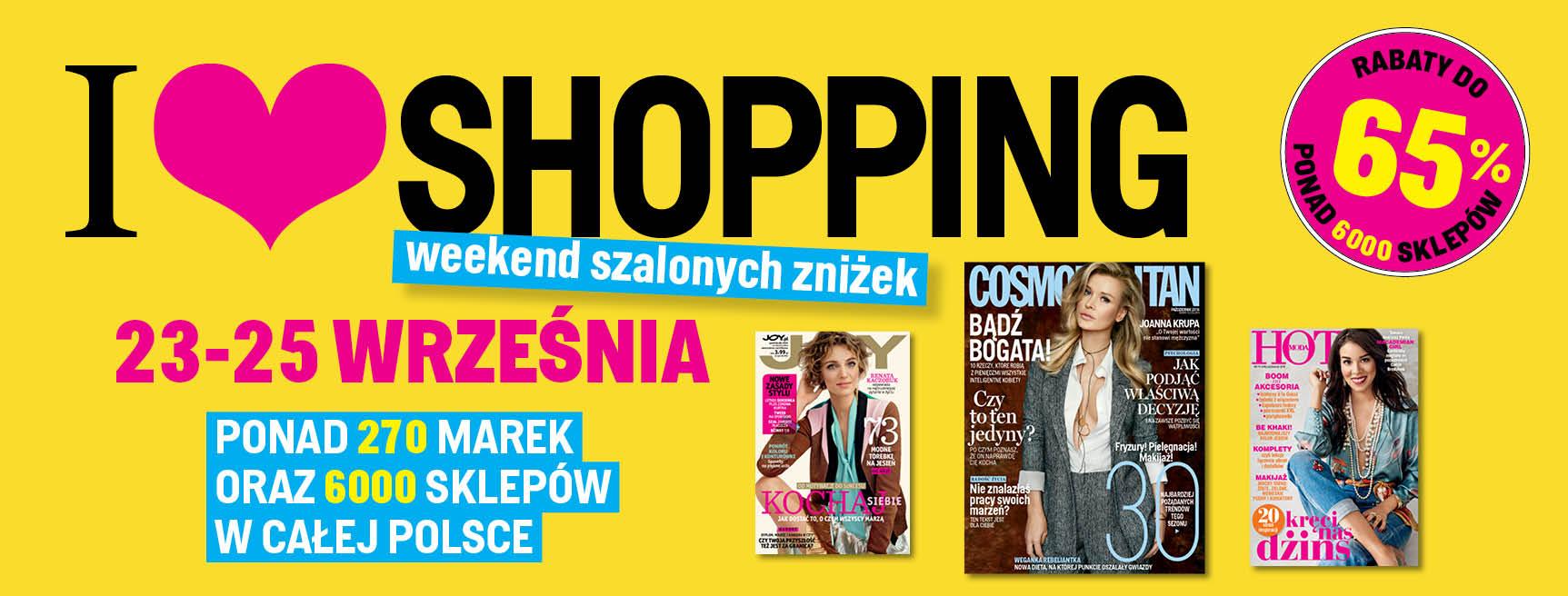 Weekend Zniżek w całej Polsce 23-25 września 2016 z magazynami Joy, Hot Moda, Cosmopolitan