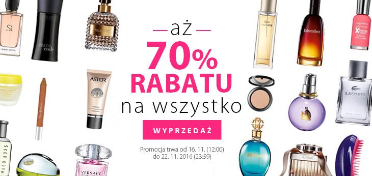 Perfumy Perfumeria: wyprzedaż 70% rabatu na wszystko