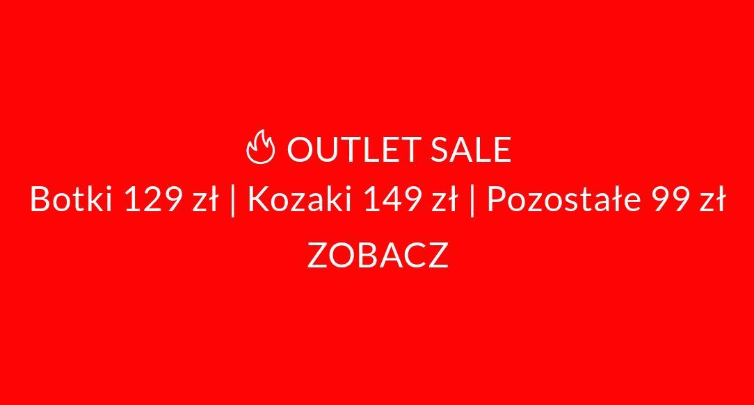 3i: botki za 129 zł, kozaki za 149 zł, pozostałe za 99 zł Outlet Sale