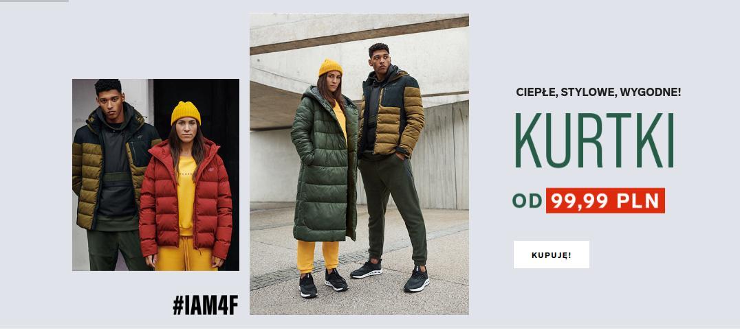 4F: na zimowe kurtki damskie i męskie od 99,99 zł