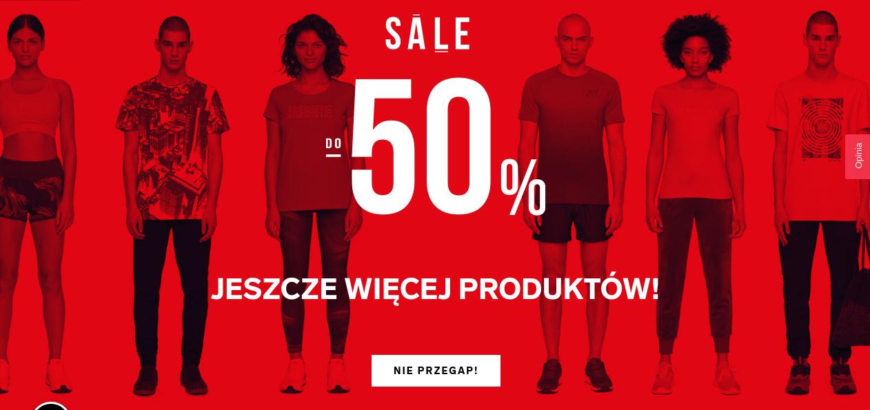 4F: wyprzedaż do 50% zniżki na odzież, obuwie oraz akcesoria sportowe                         title=