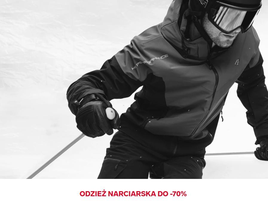 4F 4F: wyprzedaż do 70% rabatu na odzież narciarską