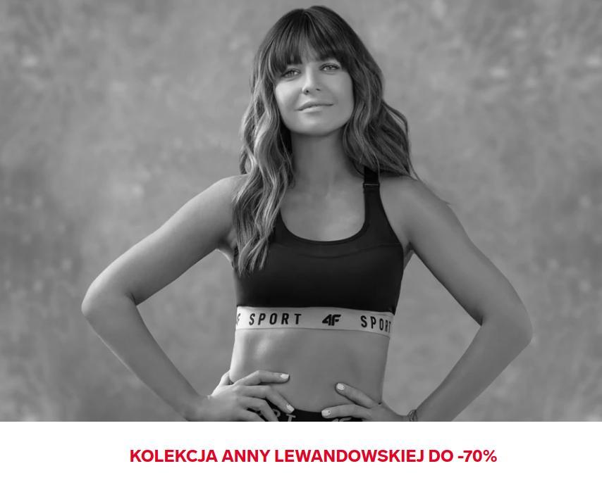 4F: wyprzedaż do 70% zniżki na odzież z kolekcji Anny Lewandowskiej