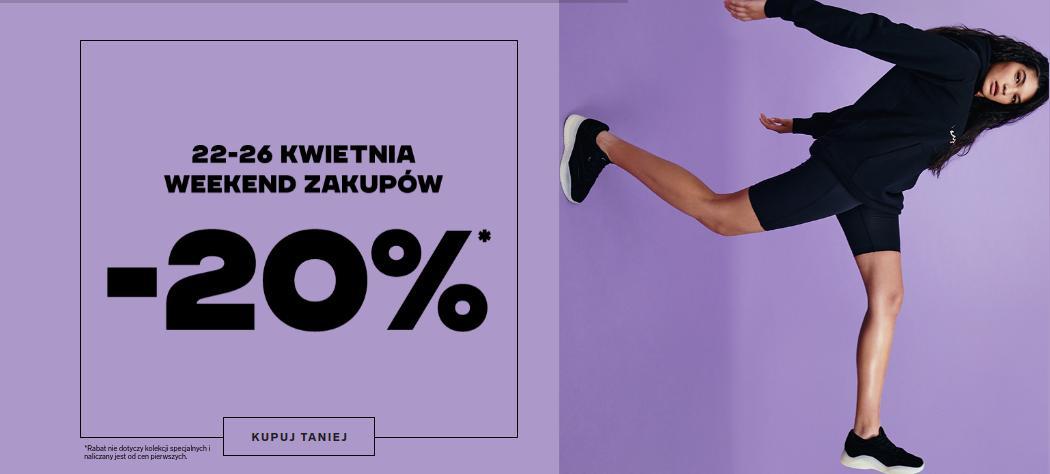 4F: 20% zniżki na odzież oraz obuwie sportowe