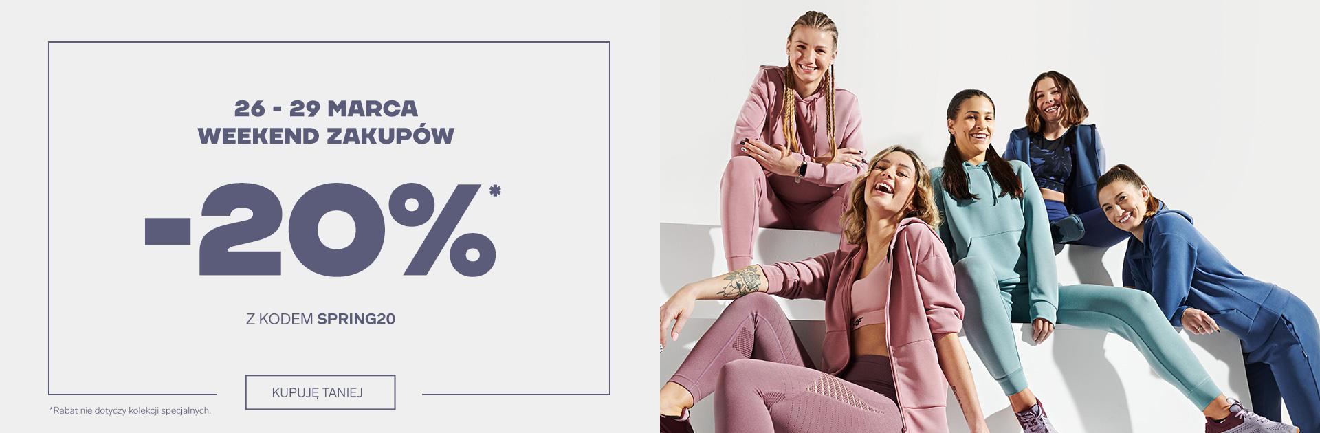 4F: Weekend Zakupów 20% zniżki na odzież i obuwie sportowe