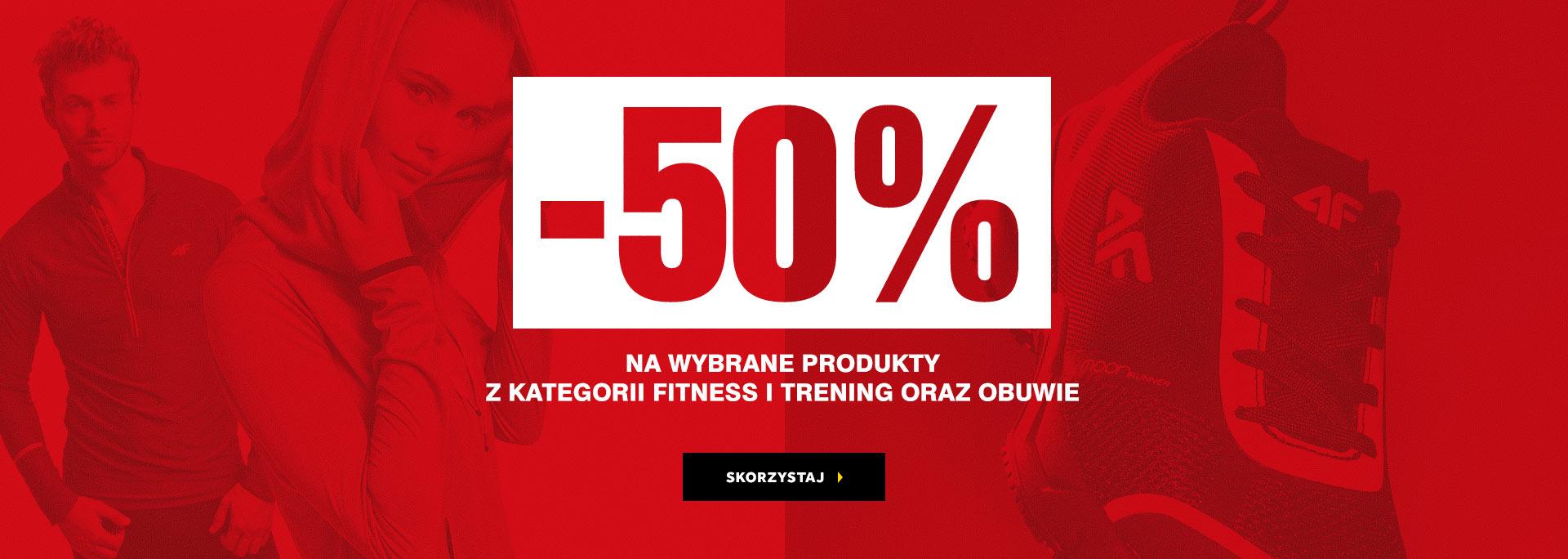 2fd909ae7 4F: wyprzedaż 50% rabatu na wybrane produkty z kategorii fitness i trening  oraz obuwie
