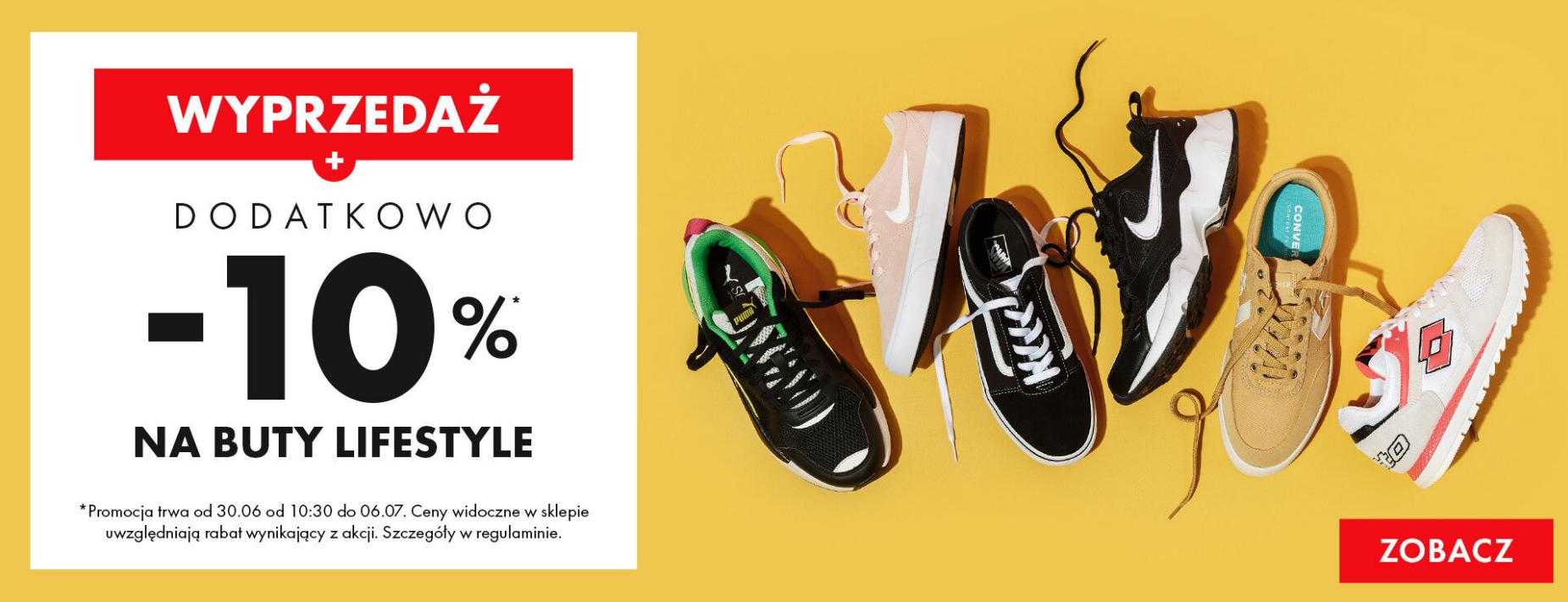 50Style: wyprzedaż dodatkowe 10% rabatu na buty lifestyle z wyprzedaży                         title=