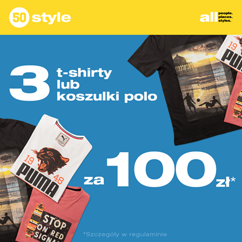50Style: 3 t-shirty za 100 zł