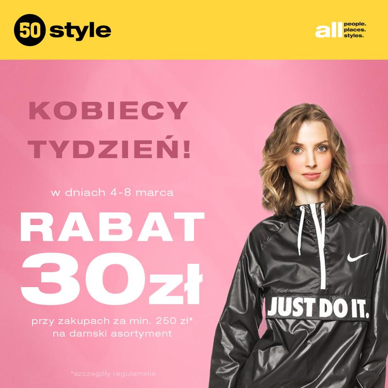 50Style: 30zł zniżki przy zakupach za 250 zł