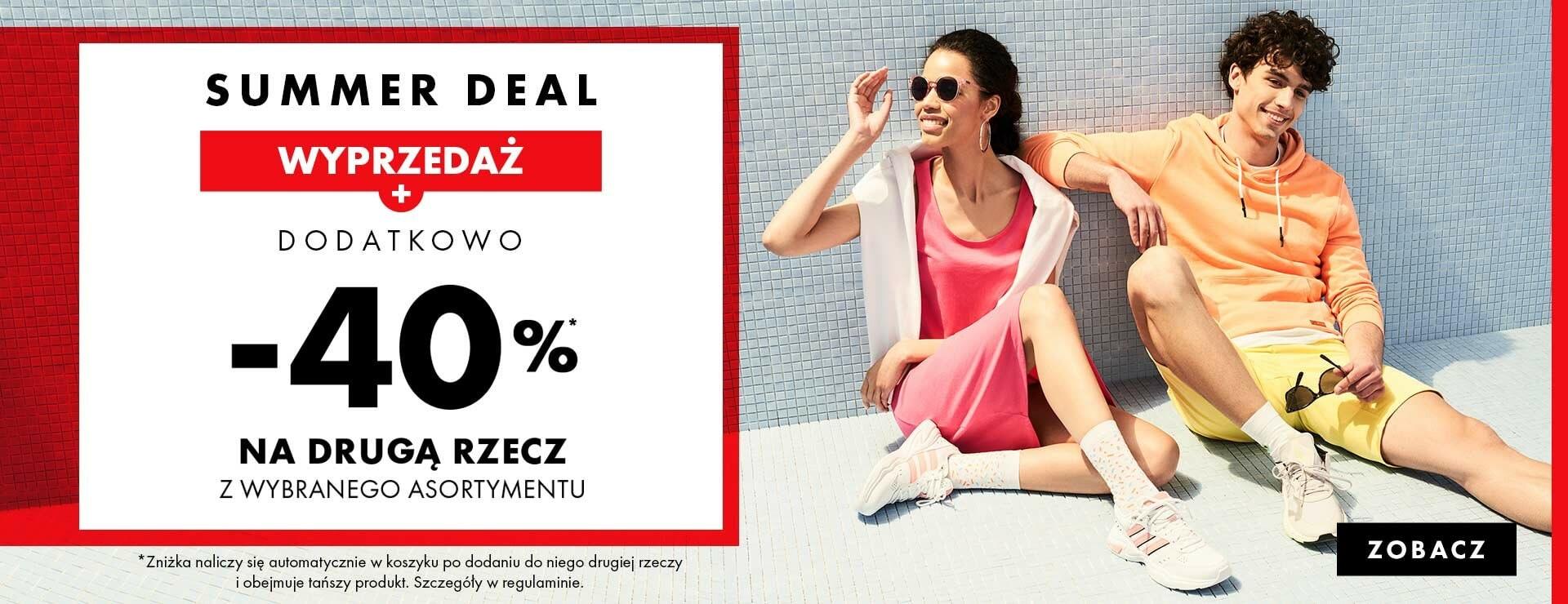 50Style: wyprzedaż dodatkowe 40% rabatu na drugą rzecz z wyprzedaży - odzież i buty sportowe - summer deal