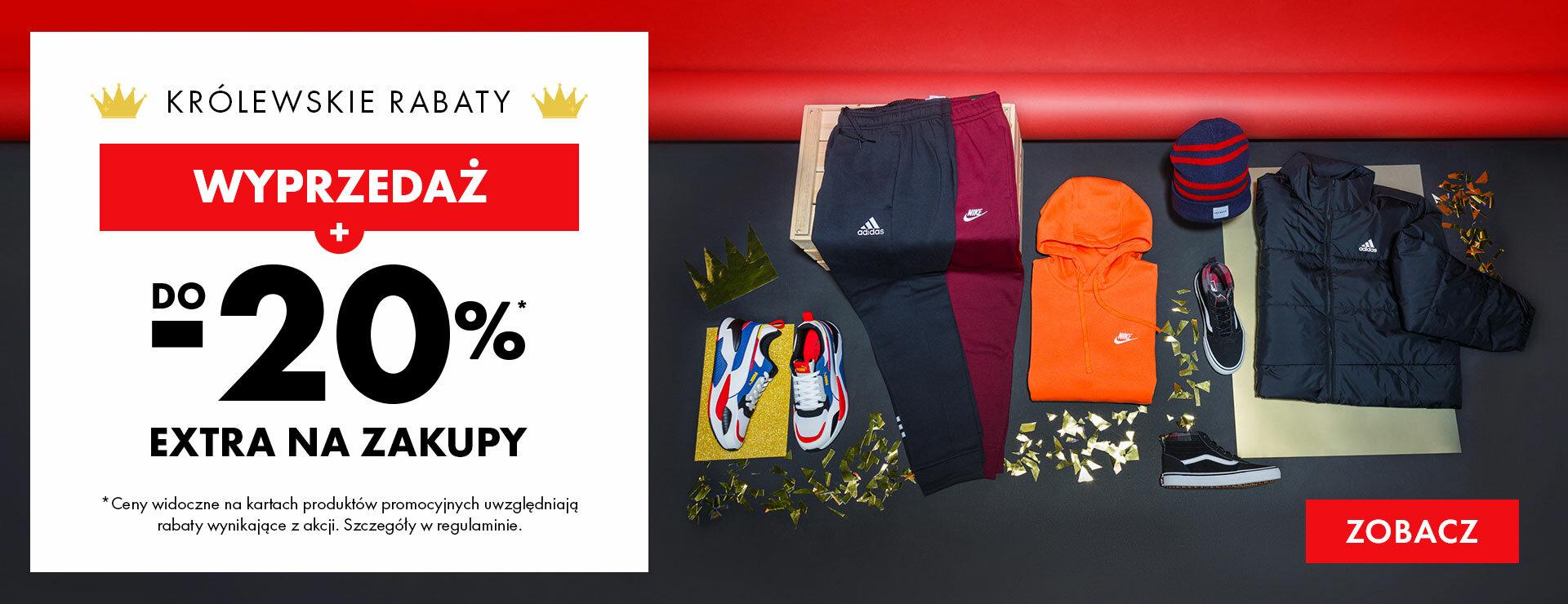 50Style: królewskie rabaty dodatkowe 20% rabatu do 70% wyprzedaży na odzież i obuwie sportowe