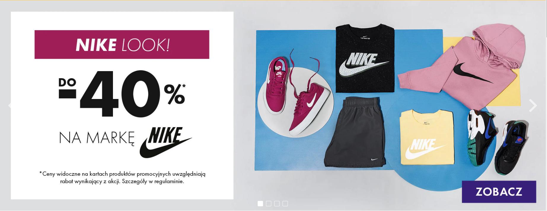 50Style: do 40% zniżki na buty, odzież i akcesoria sportowe marki Nike                         title=