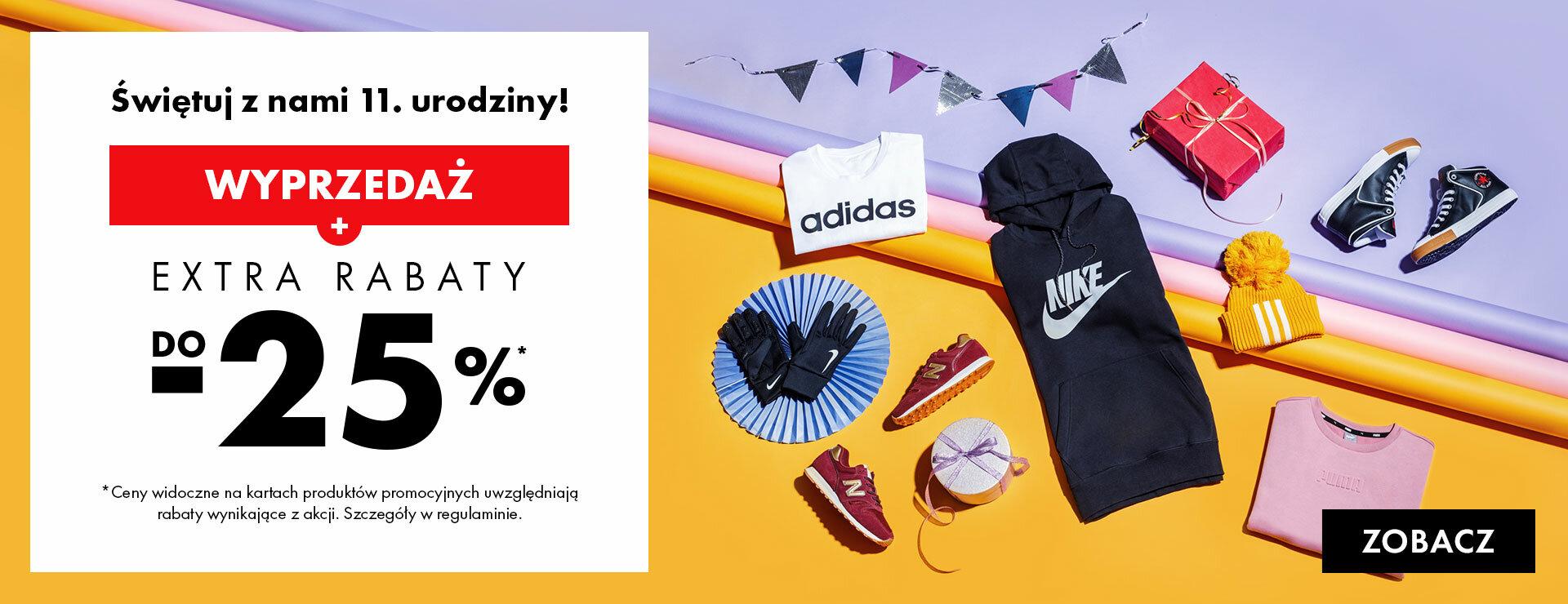 50Style: dodatkowe 20% rabatu do wyprzedaży butów i ubrań sportowych