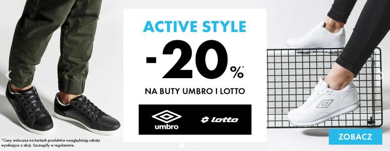 4a855cc3e52d9f 50Style: 20% zniżki na buty marki Umbro i Lotto