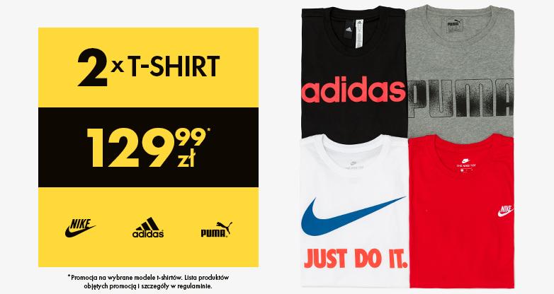 50Style: dwa t-shirty marek Nike, Adidas lub Puma za 129,99 zł