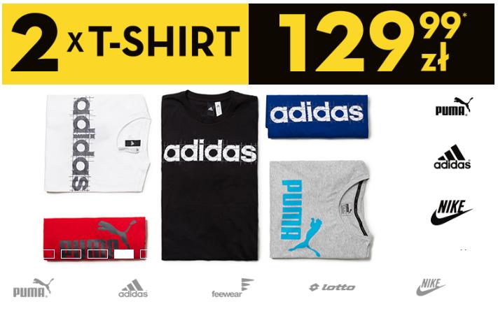 50Style: 2 x T-Shirt Nike, Adidas, Puma za 129,99 zł