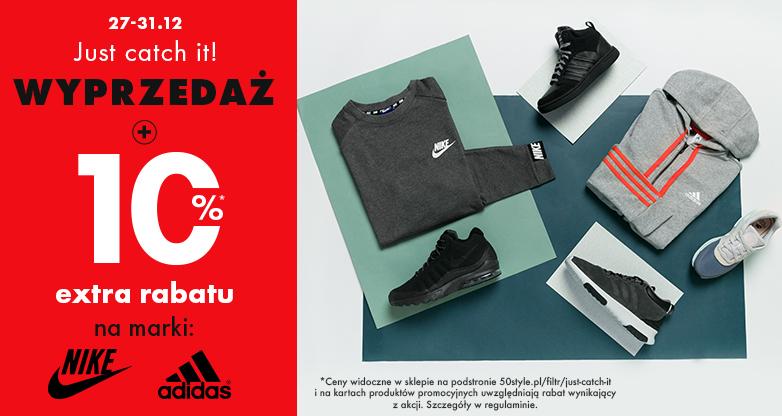 50Style: dodatkowe 10% zniżki na rzeczy z wyprzedaży marek Nike oraz Adidas