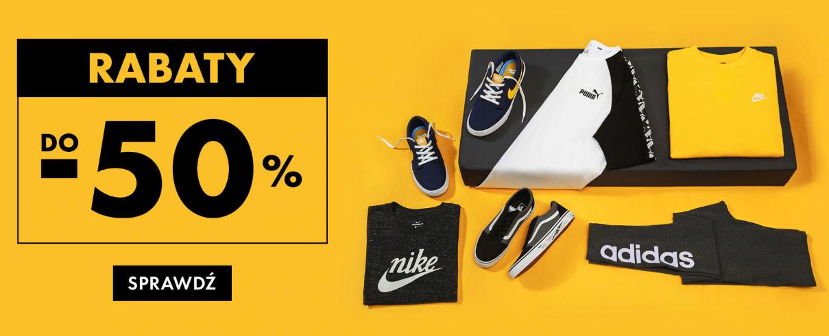 50Style: do 50% rabatu na odzież sportową znanych marek m.in. Puma, Nike, adidas                         title=