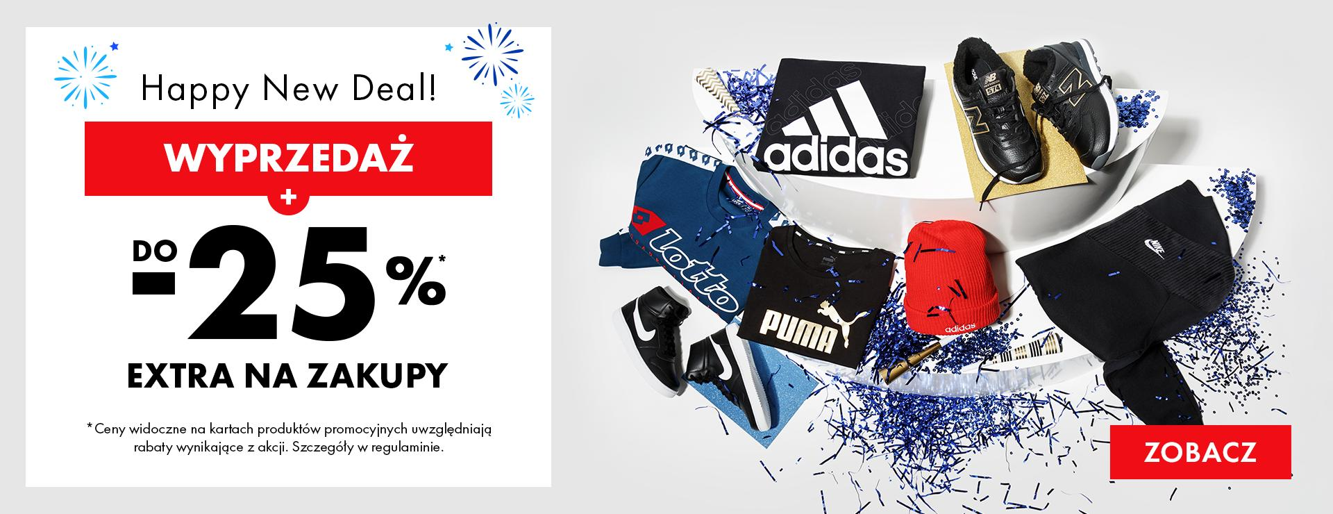 50Style: do 25% zniżki na odzież, obuwie oraz akcesoria sportowe - Happy New Deal