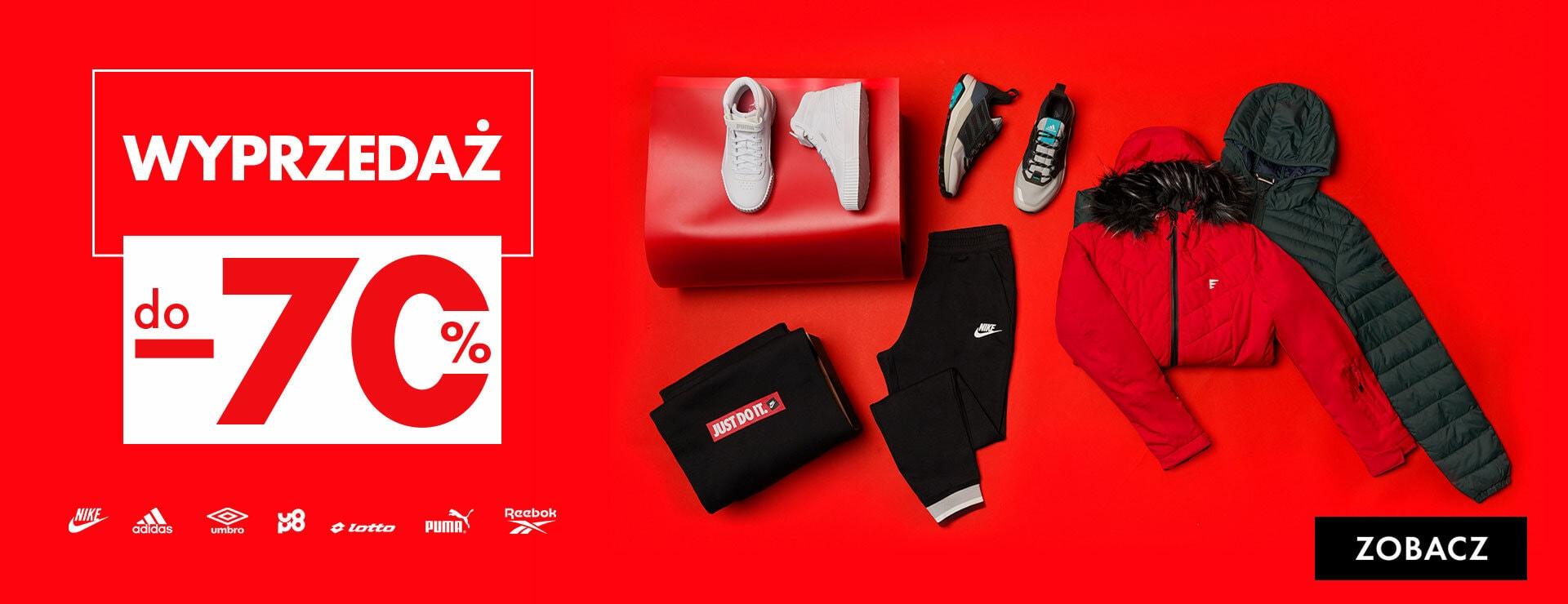 50Style: wyprzedaż do 70% rabatu na odzież, obuwie oraz akcesoria sportowe znanych marek
