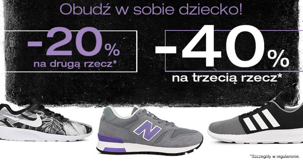 50Style: 20% zniżki na 2 rzecz i 40% zniżki na 3 rzecz na obuwie sportowe i odzież z okazji Dnia Dziecka