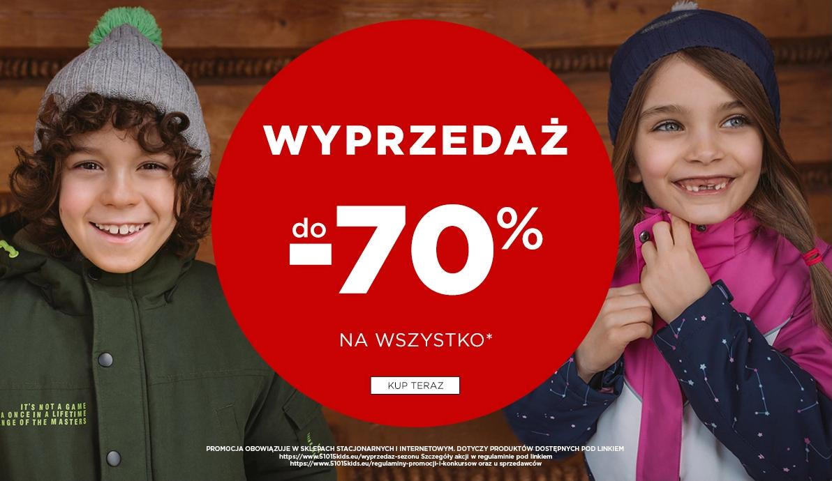 5.10.15. 5.10.15.: wyprzedaż do 70% rabatu na odzież dla dzieci i młodzieży