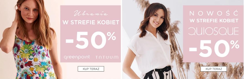 5.10.15.: 50% rabatu na ubrania marek Greenpoint, Tatuum, Quiosque ze strefy kobiet                         title=