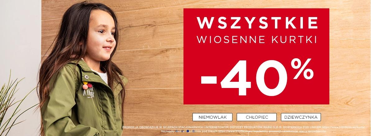 5.10.15.: 40% rabatu na wiosenne kurtki dla dzieci i młodzieży