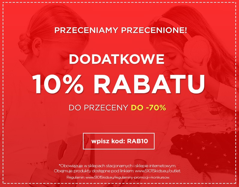 2a93d9b46 5.10.15.: dodatkowe 10% rabatu na rzeczy z przeceny do 70%