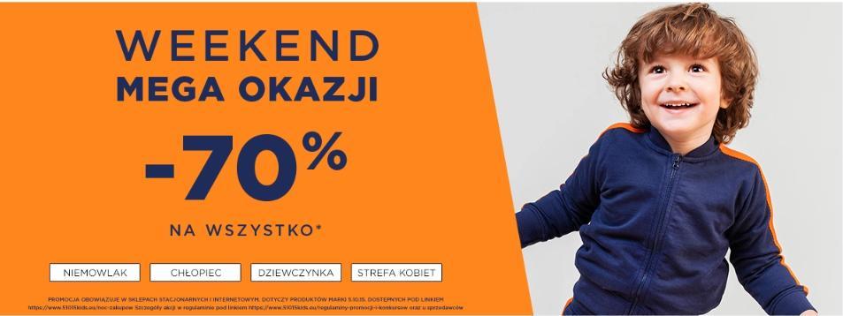 5.10.15.: 70% rabatu na cały asortyment odzieży dla dzieci i mam - weekend mega okazji