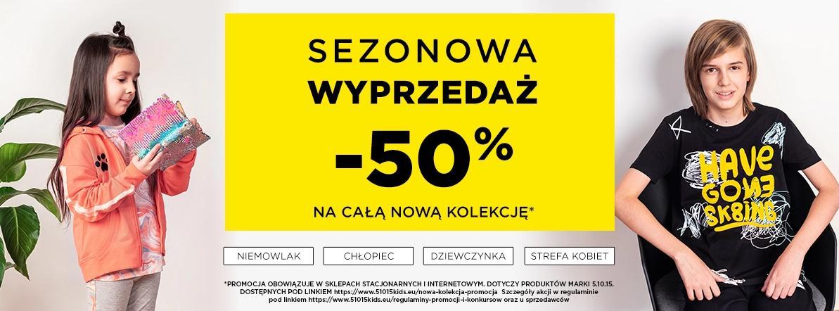 5.10.15.: 50% zniżki na całą nową kolekcję odzieży i obuwia dla dzieci i kobiet