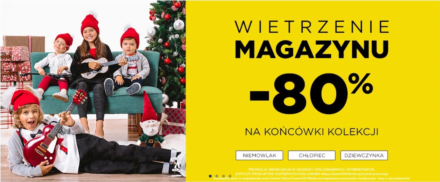 5.10.15.: Wietrzenie Magazynu 80% zniżki na końcówki kolekcji dziecięcej