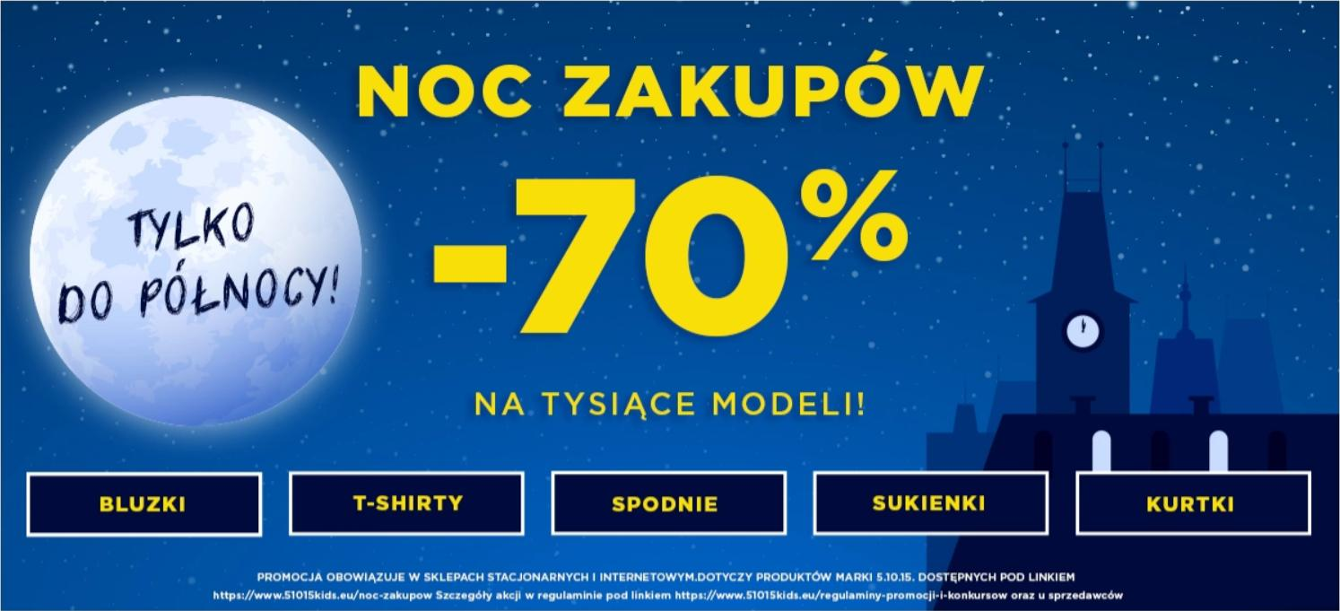 5.10.15.: Noc Zakupów 70% zniżki na tysiące modeli odzieży dziecięcej
