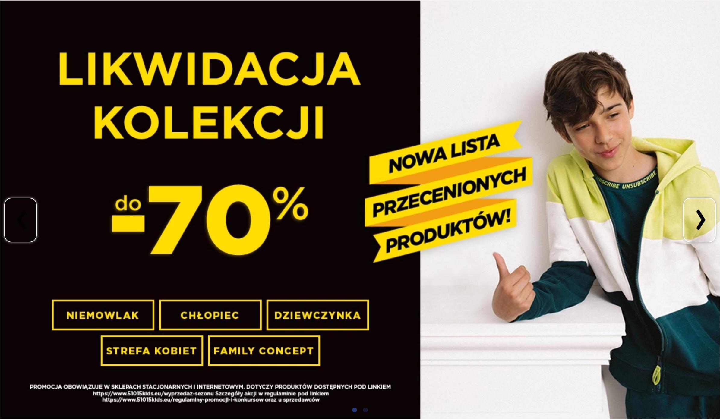 5.10.15.: likwidacja kolekcji do 70% rabatu na odzież dziecięcą i damską