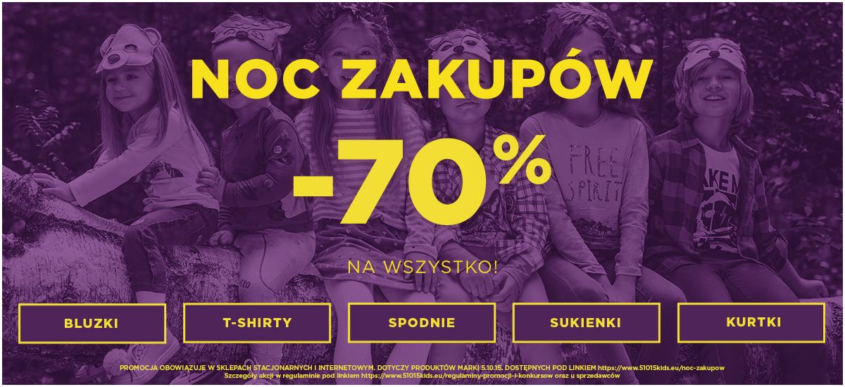 5.10.15. 5.10.15.: 70% rabatu na cały asortyment odzieży dla dzieci marki 5.10.15 - bluzki, t-shirty, spodnie, sukienki, kurtki