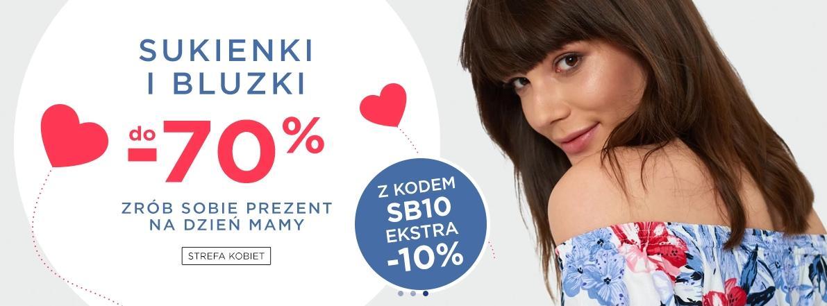 5.10.15.: do 70% rabatu na sukienki i bluzki oraz dodatkowe 10% z kodem