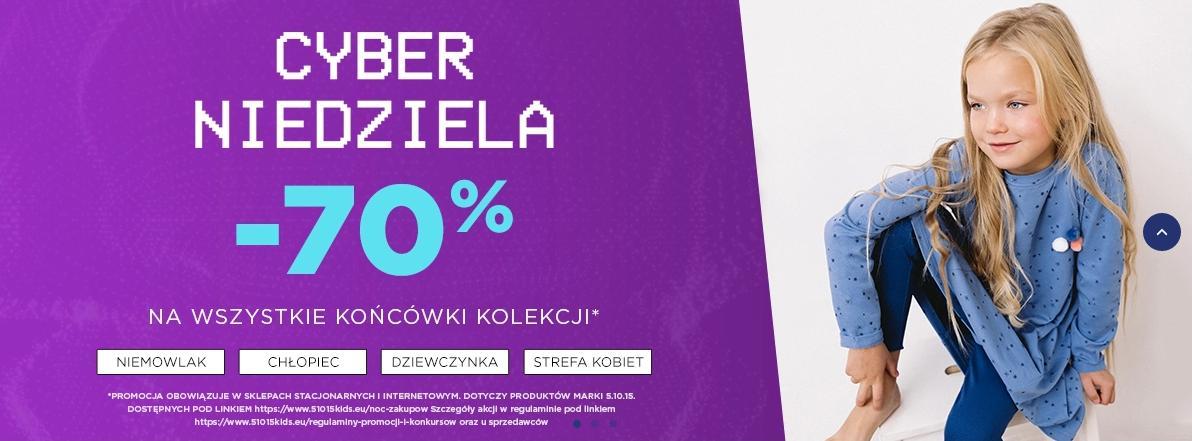 5.10.15.: 70% rabatu na wszystkie końcówki odzieży dla dzieci i dla mam - Cyber Niedziela