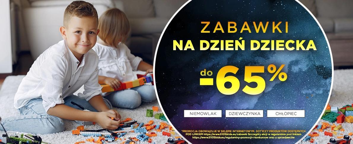 5.10.15.: do 65% rabatu na zabawki z okazji Dnia Dziecka