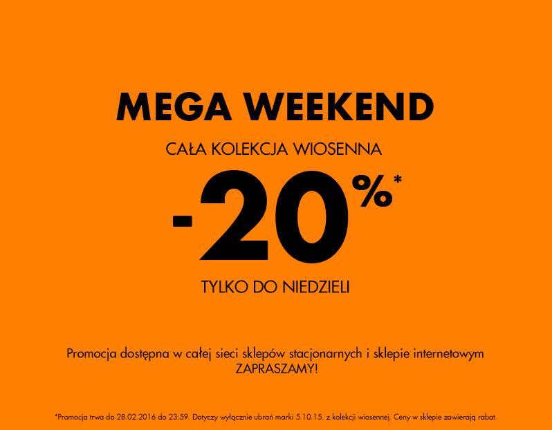 5.10.15.: mega weekend i 20% zniżki na kolekcję wiosenną