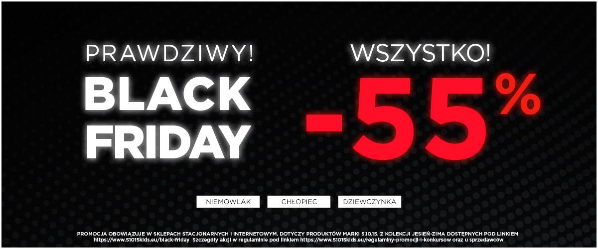 5.10.15.: Black Friday 55% zniżki na odzież, zabawki i akcesoria dziecięce