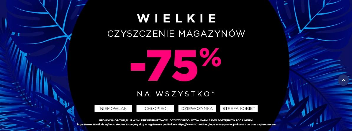 5.10.15.: wyprzedaż 75% zniżki na odzież dla dzieci i mam - wielkie czyszczenie magazynów