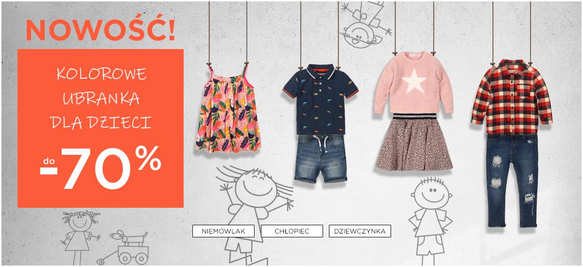5.10.15.: do 70% zniżki na kolorowe ubranka dla dzieci                         title=