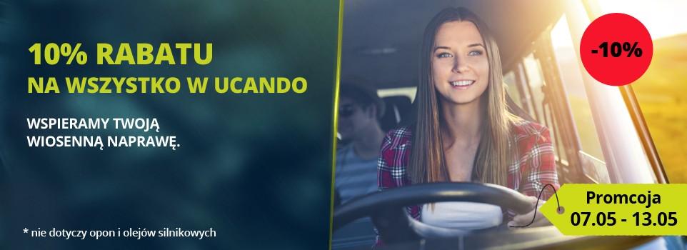 Ucando: 10% rabatu na części samochodowe