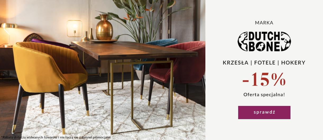 9design: 15% zniżki na krzesła, fotele i hokery marki Dutch Bone
