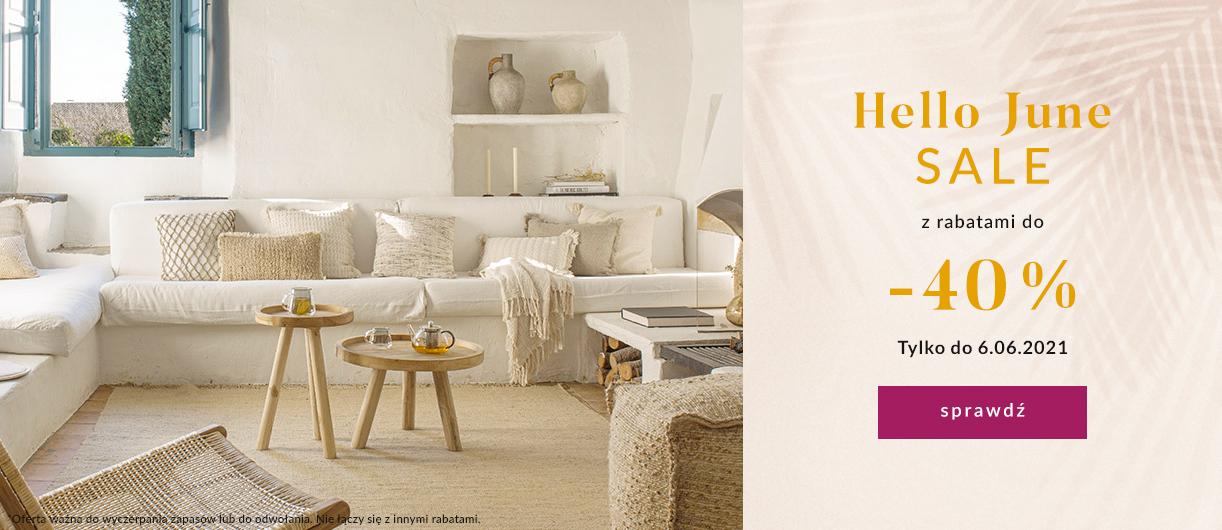 9design: wyprzedaż 40% zniżki na meble oraz wyposażenie wnętrz - Hello June Sale