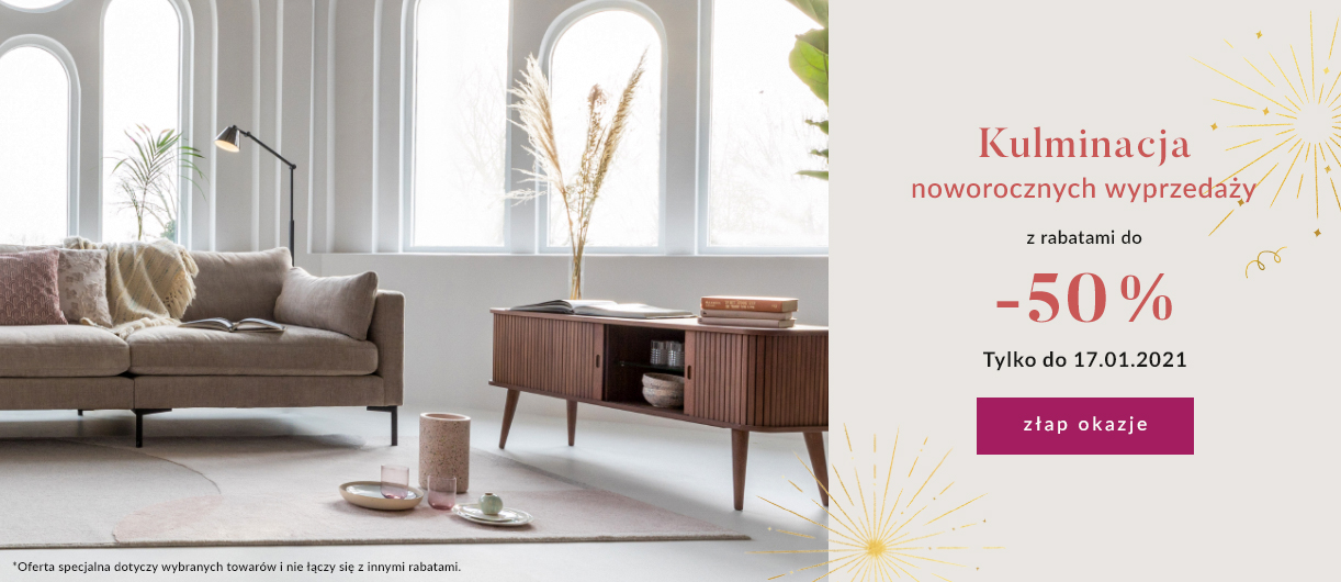 9design: kulminacja noworocznych wyprzedaży do 50% zniżki na designerskie meble, lampy i dodatki