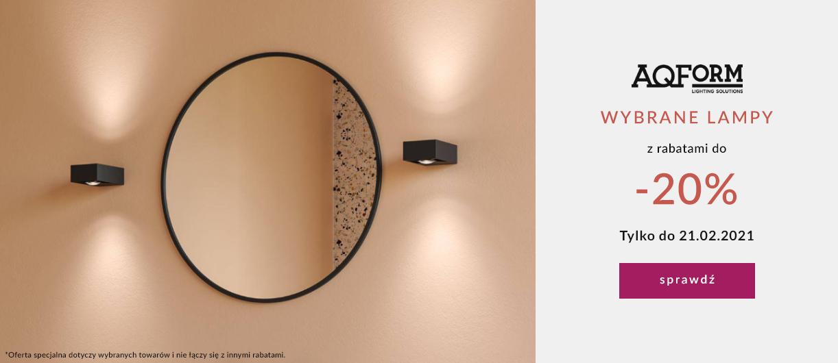 9design: 20% zniżki na wybrane lampy marki AQ Form