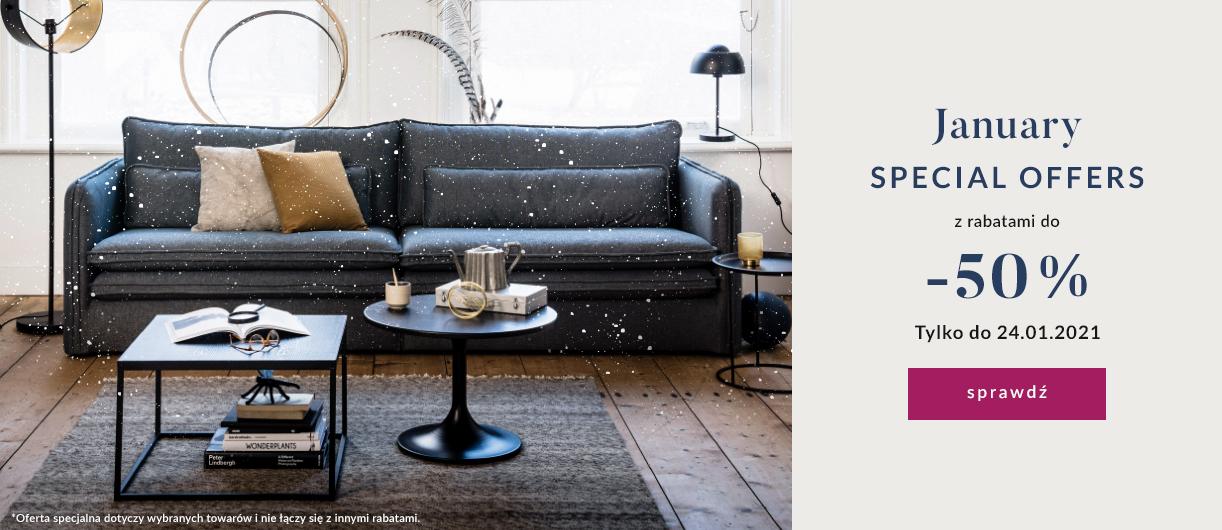 9design: Styczniowe Okazje do 50% rabatu na designerskie meble, lampy i dodatki