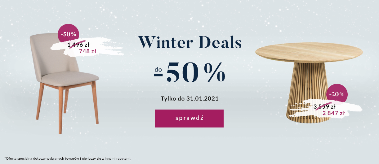 9design: Winter Deals do 50% rabatu na meble, lampy i dodatki do domu